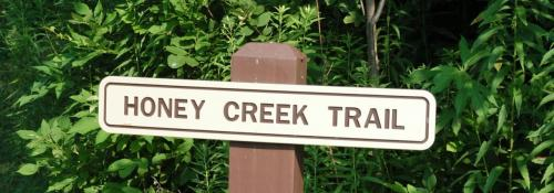 honey creek trail sign