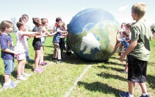 Kids Playing Earthball