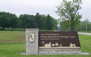Lost Creek Reserve Entrance sign